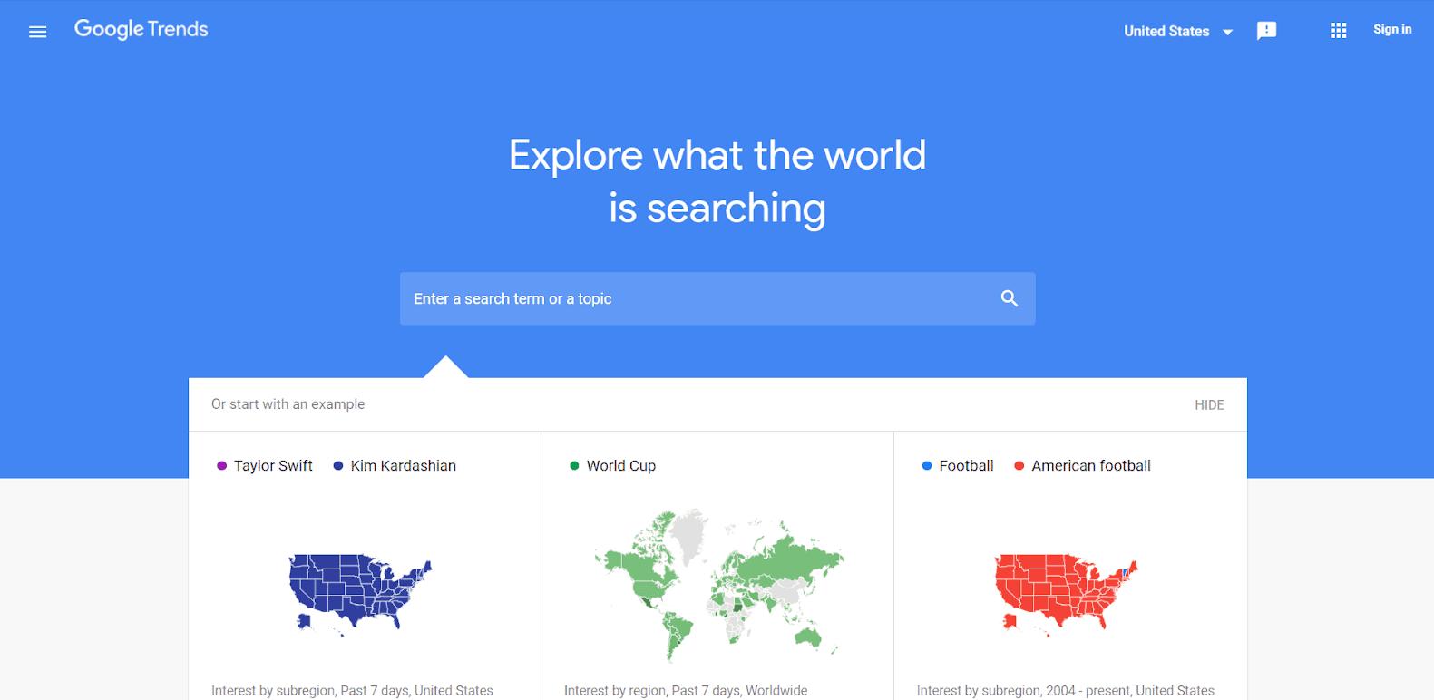 Google Trends Tools