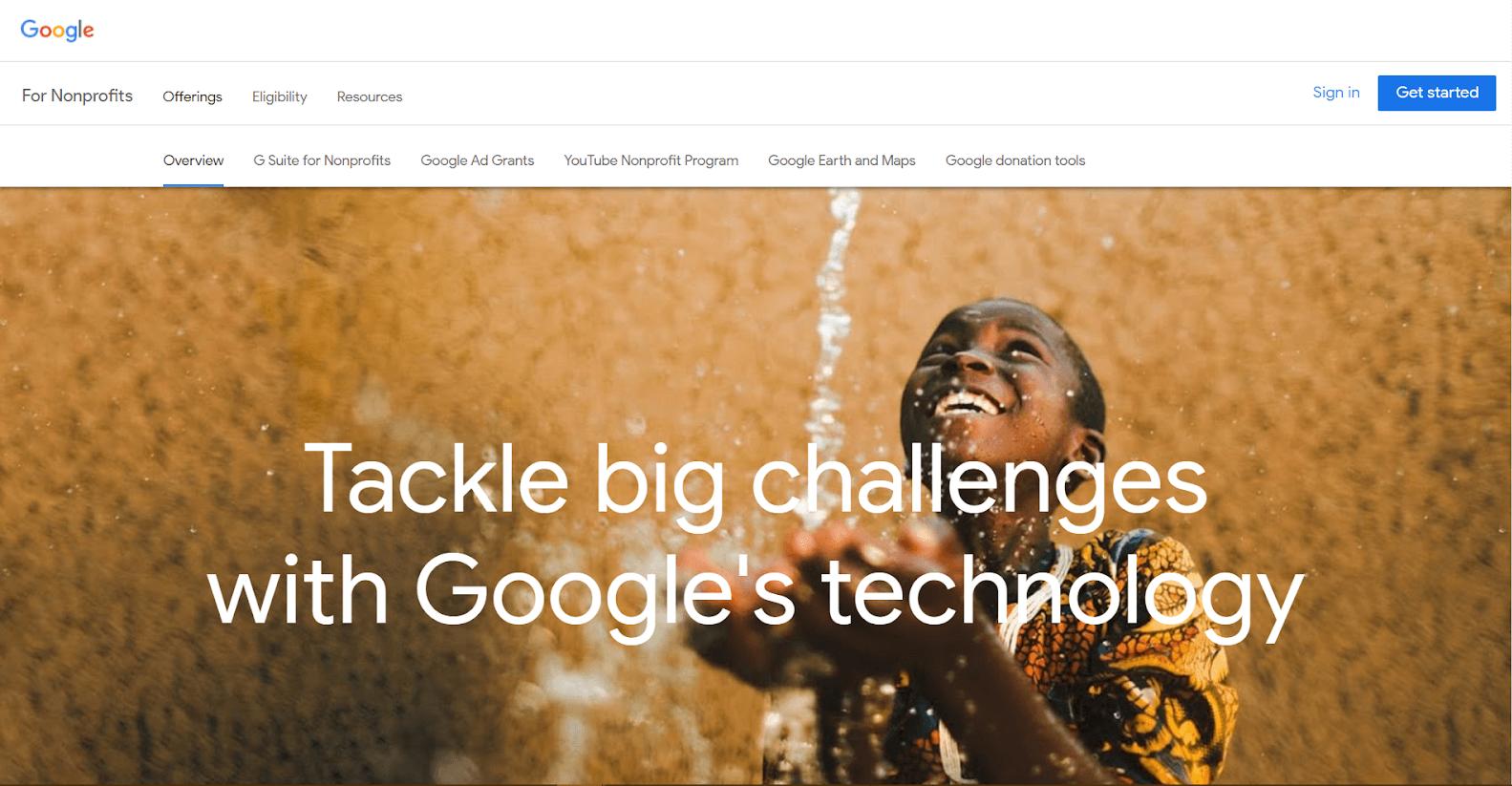Google for Nonprofits Tools