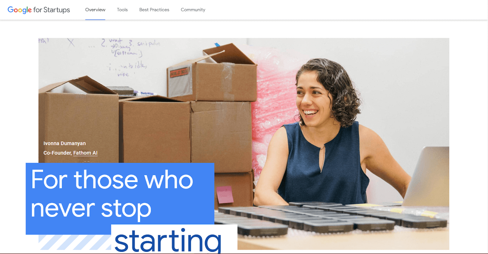 Google for Startups Tools