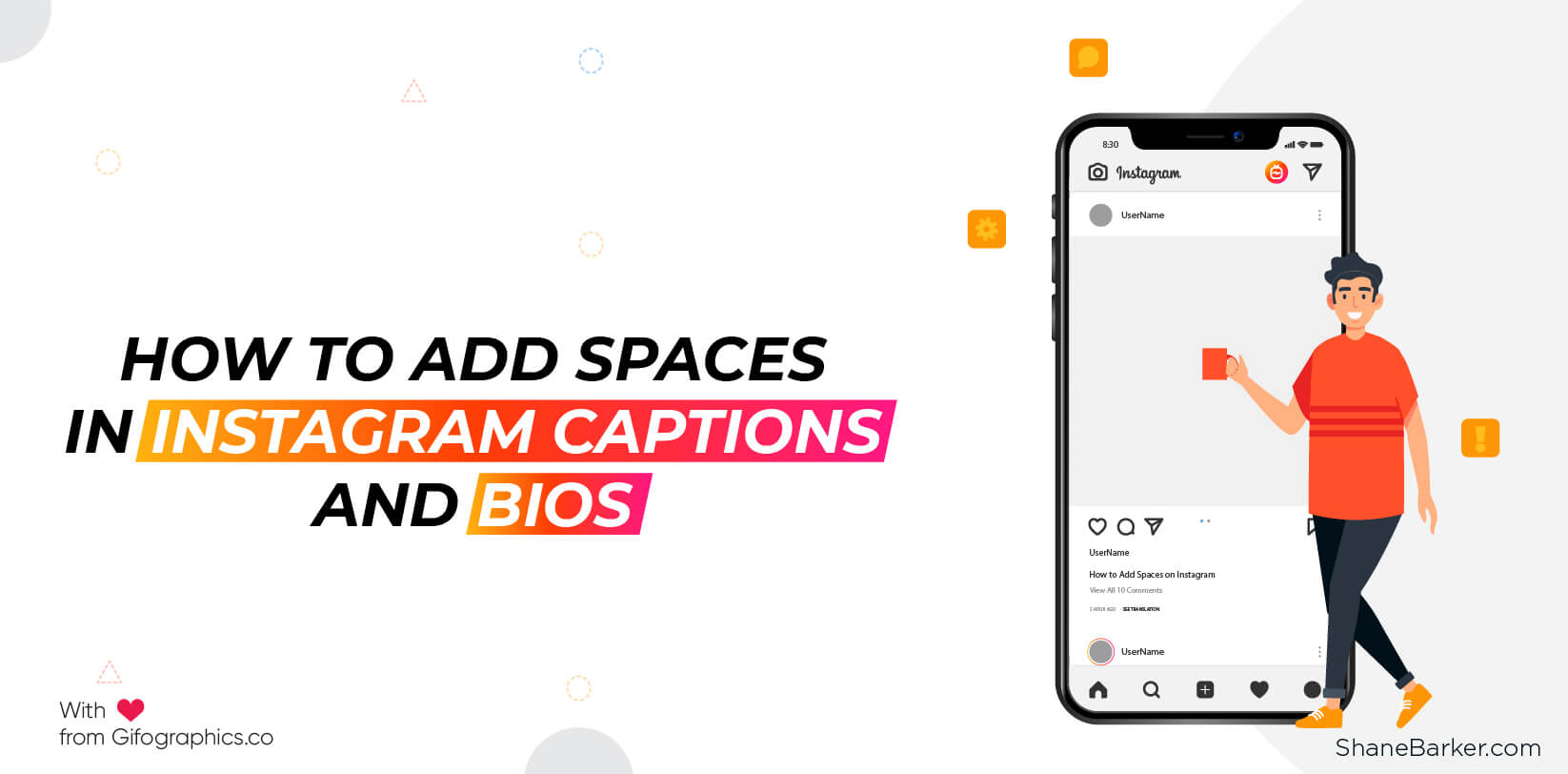 How To Add Spaces In Instagram Captions And Bios Shane Barker