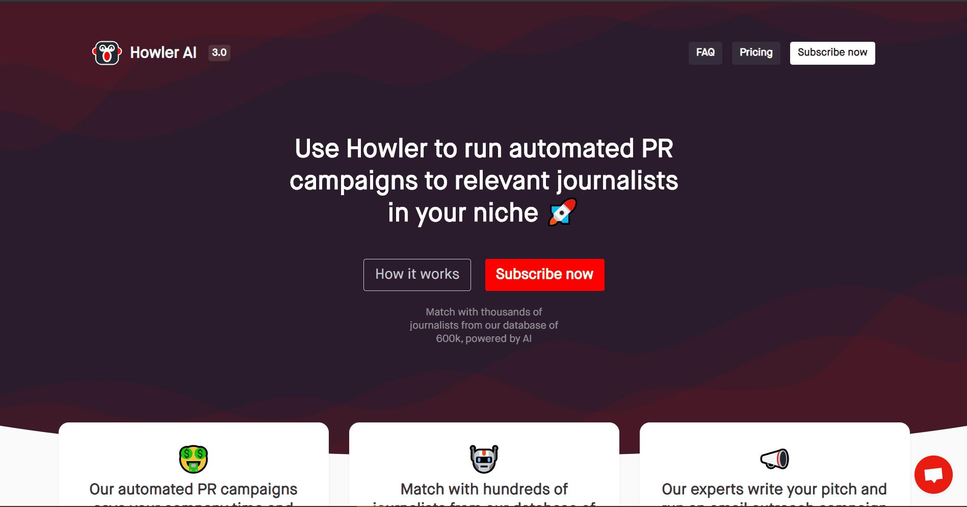 Howler AI Blogger Outreach Tools