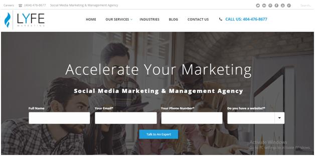 LYFE Marketing Website Navigation