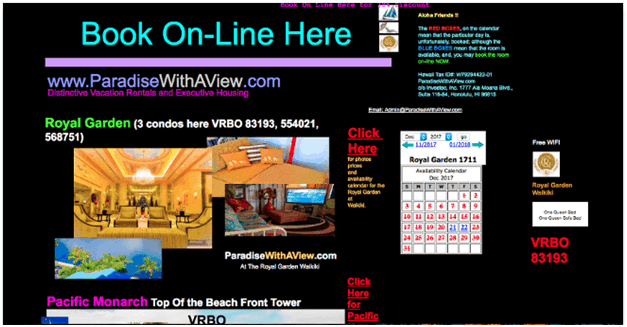 ParadiseWithAView Website Navigation