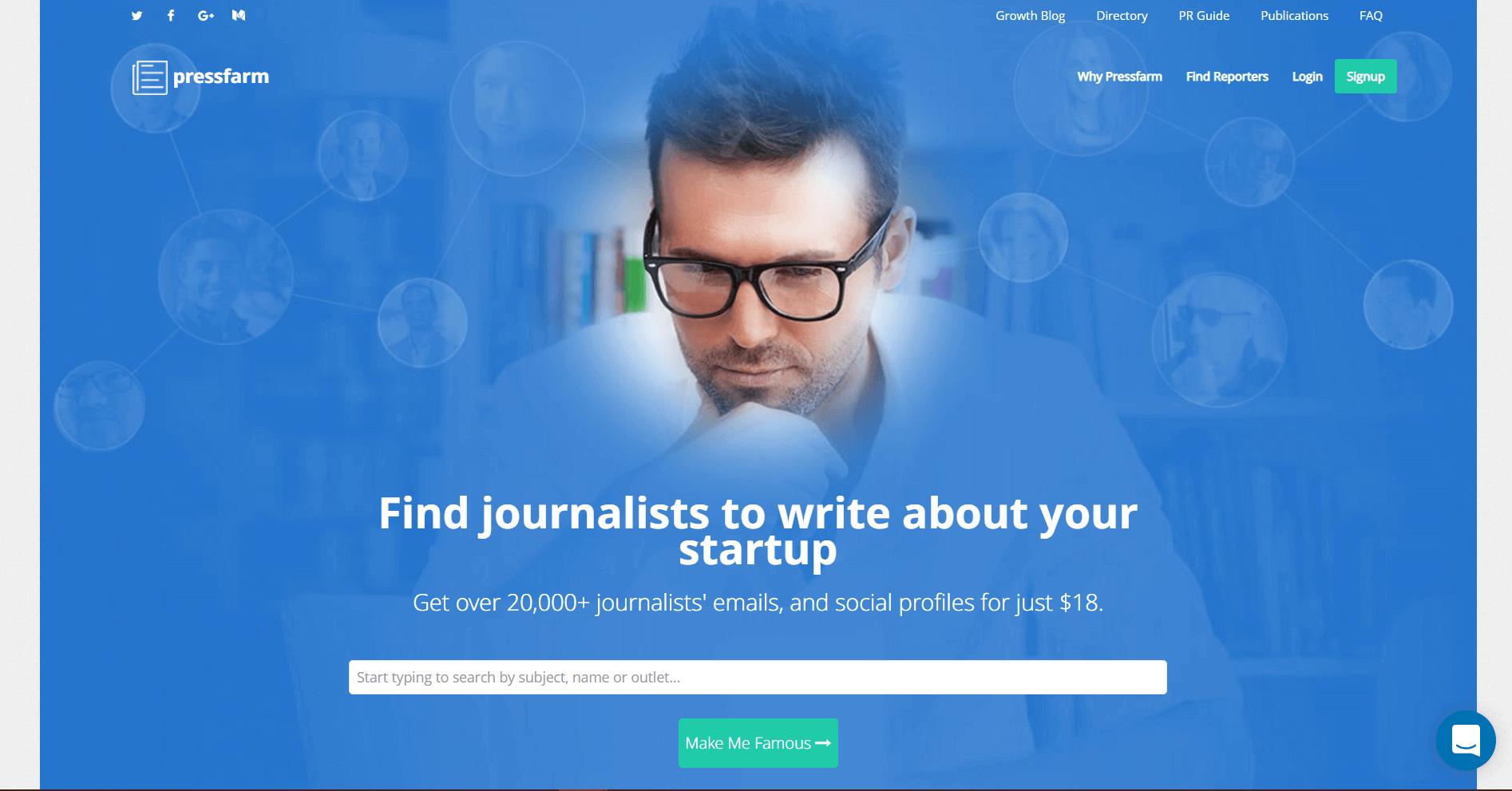 Pressfarm Blogger Outreach Tools