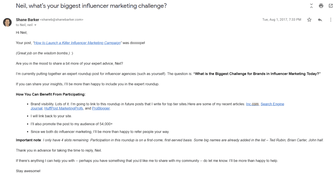 Reaching Out to Influencers PR case study