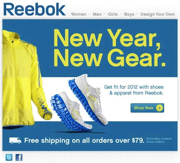 Reebok New Year Marketing Ideas