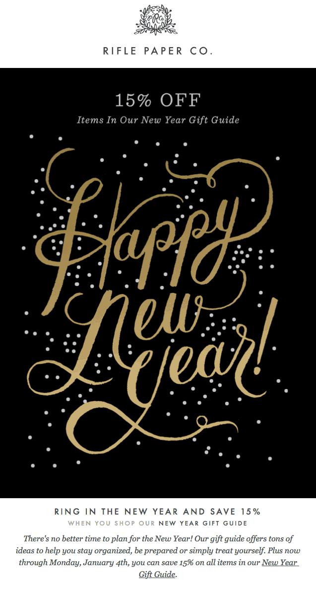 Rifle Paper Company New Year Marketing Ideas