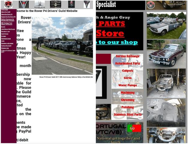RoverP6 Website Navigation
