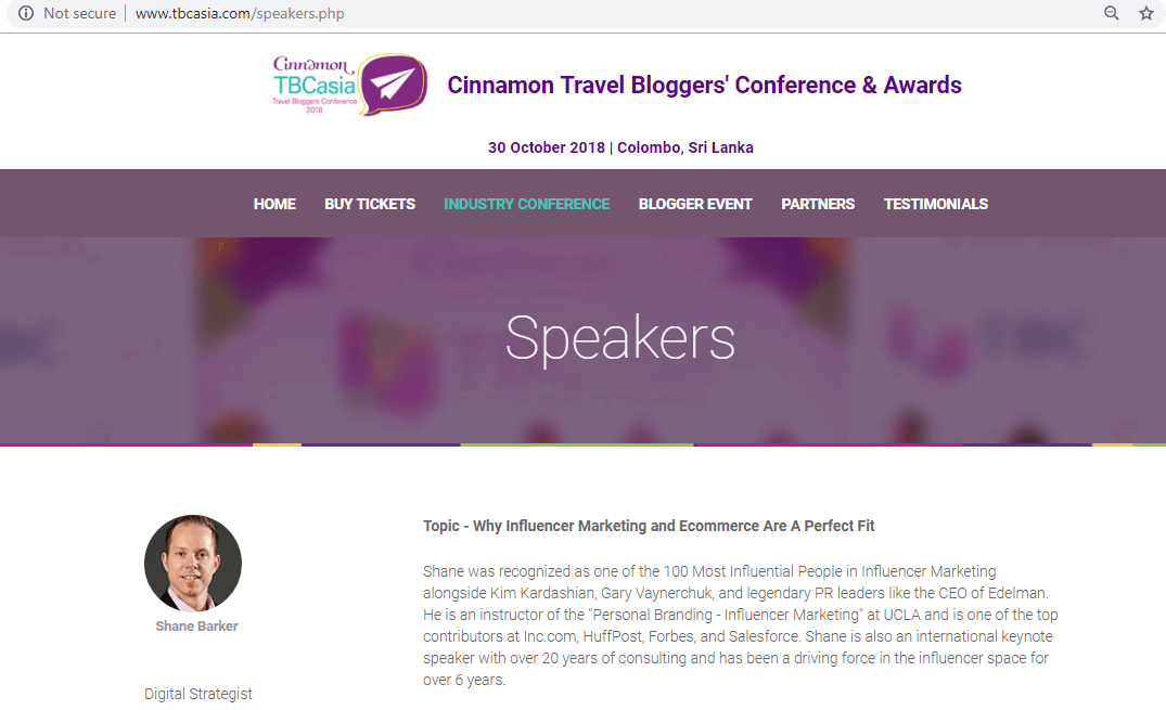 Speaking Events Conferences seo case study