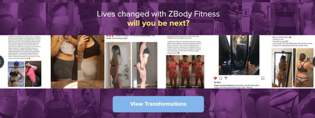 Zoe's personal transformation journey