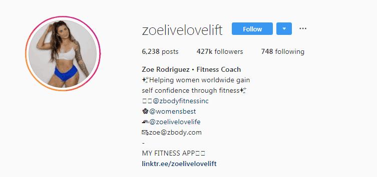 Zoe Rodriguez instagram