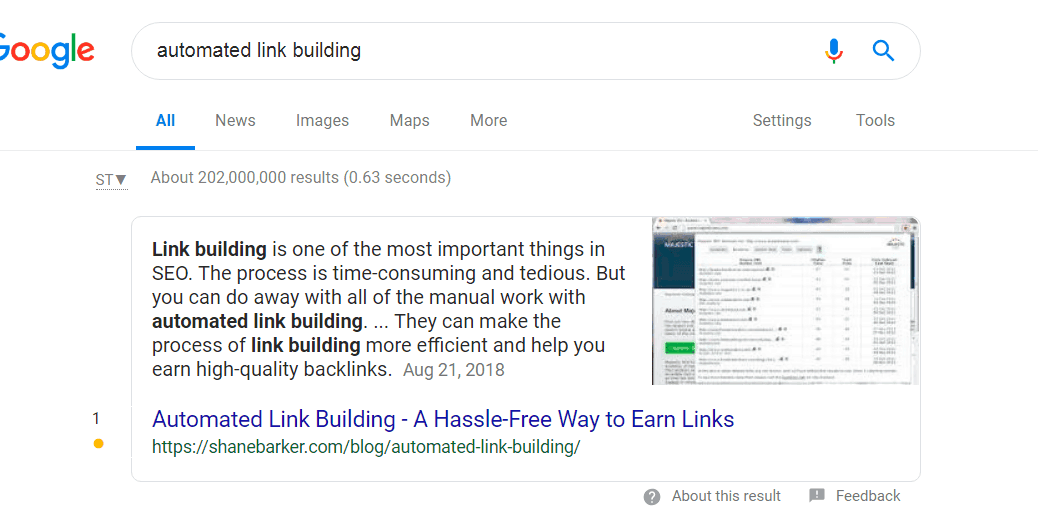 features in rich snippets seo case study