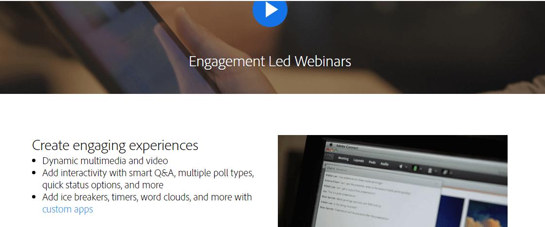 Adobe Connect Webinars Hosting Website