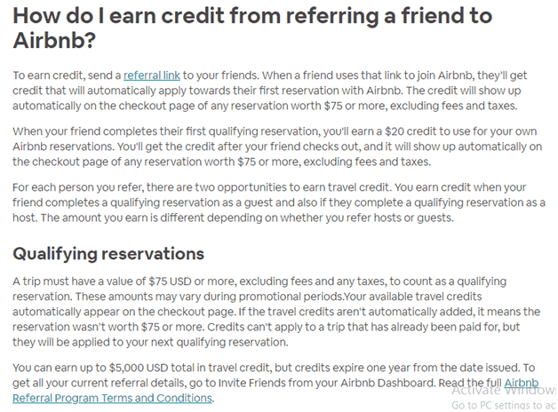 Airbnb's in-app referral program Mobile Marketing Strategy