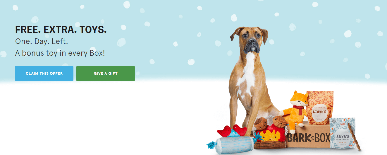 BarkBox call-to-action