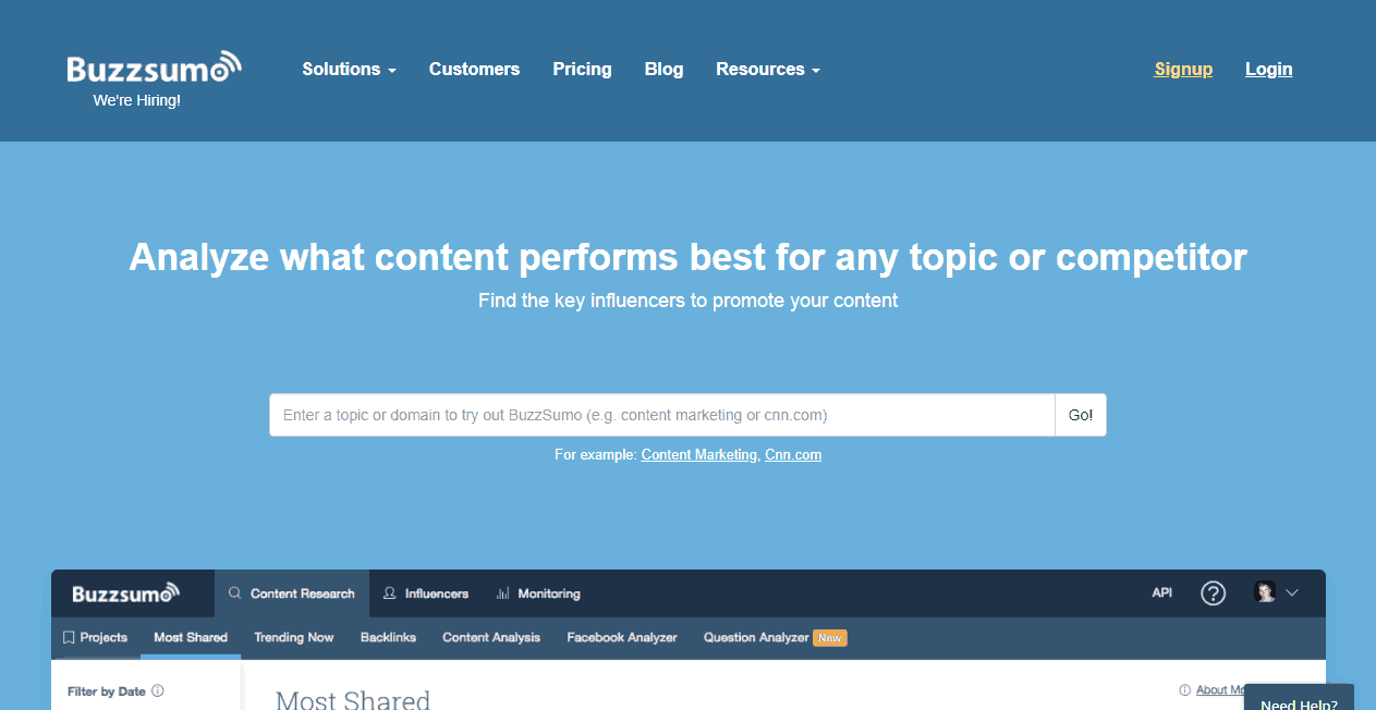 BuzzSumo Content Marketing Platform