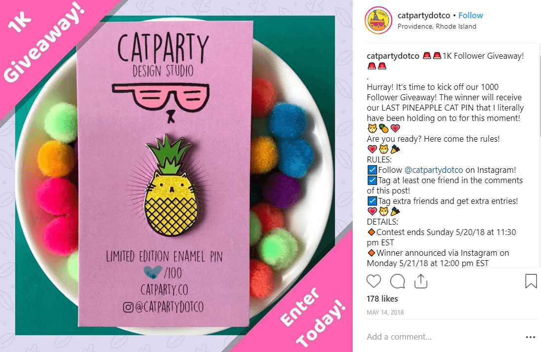 CATPARTY Instagram Giveaway Ideas