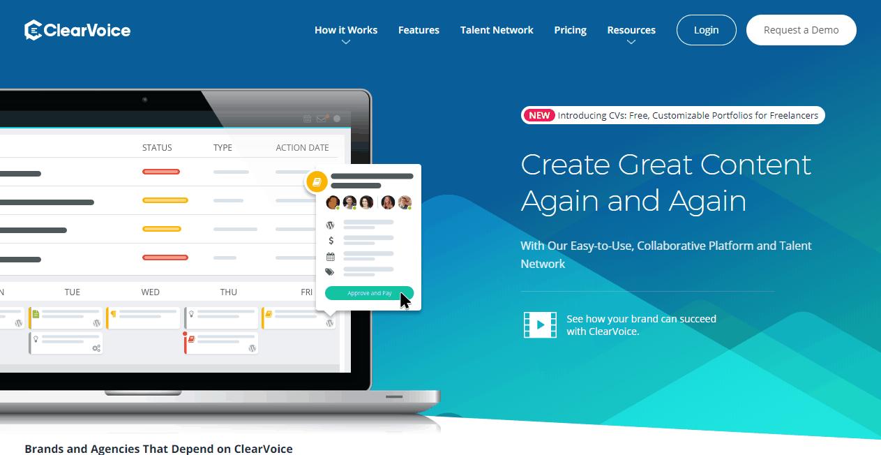 ClearVoice Content Marketing Platform