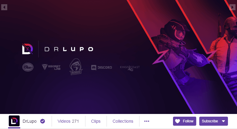 DrLupo Twitch Streamers