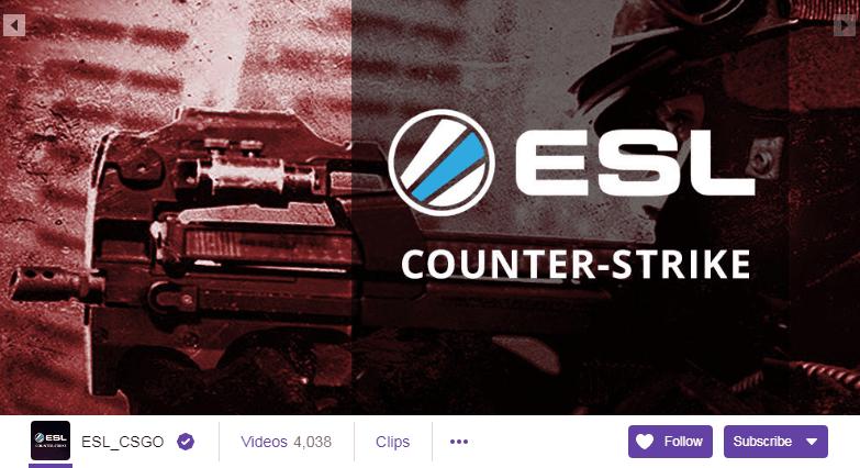 ESL_CSGO Twitch Streamers