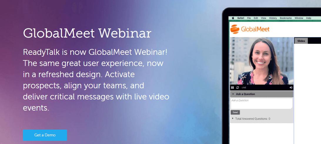GlobalMeet Webinar Hosting Website