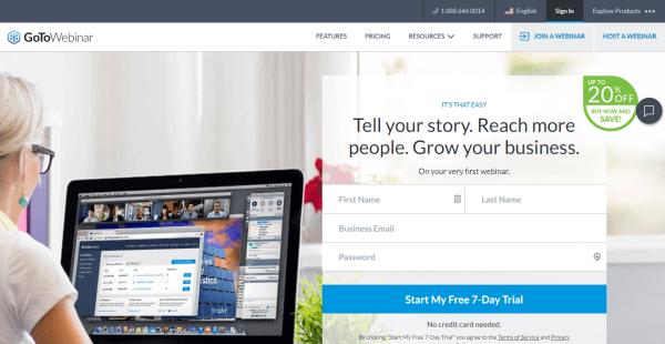 GoTo Webinar Hosting Website