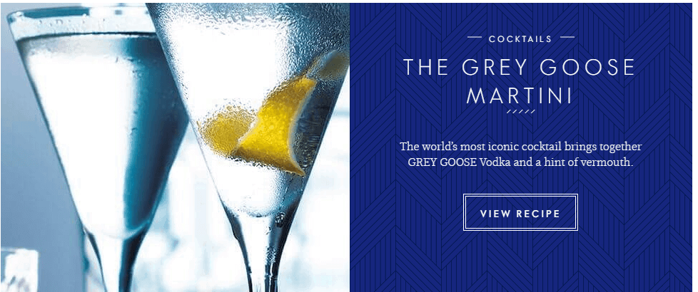 Grey Goose call-to-action
