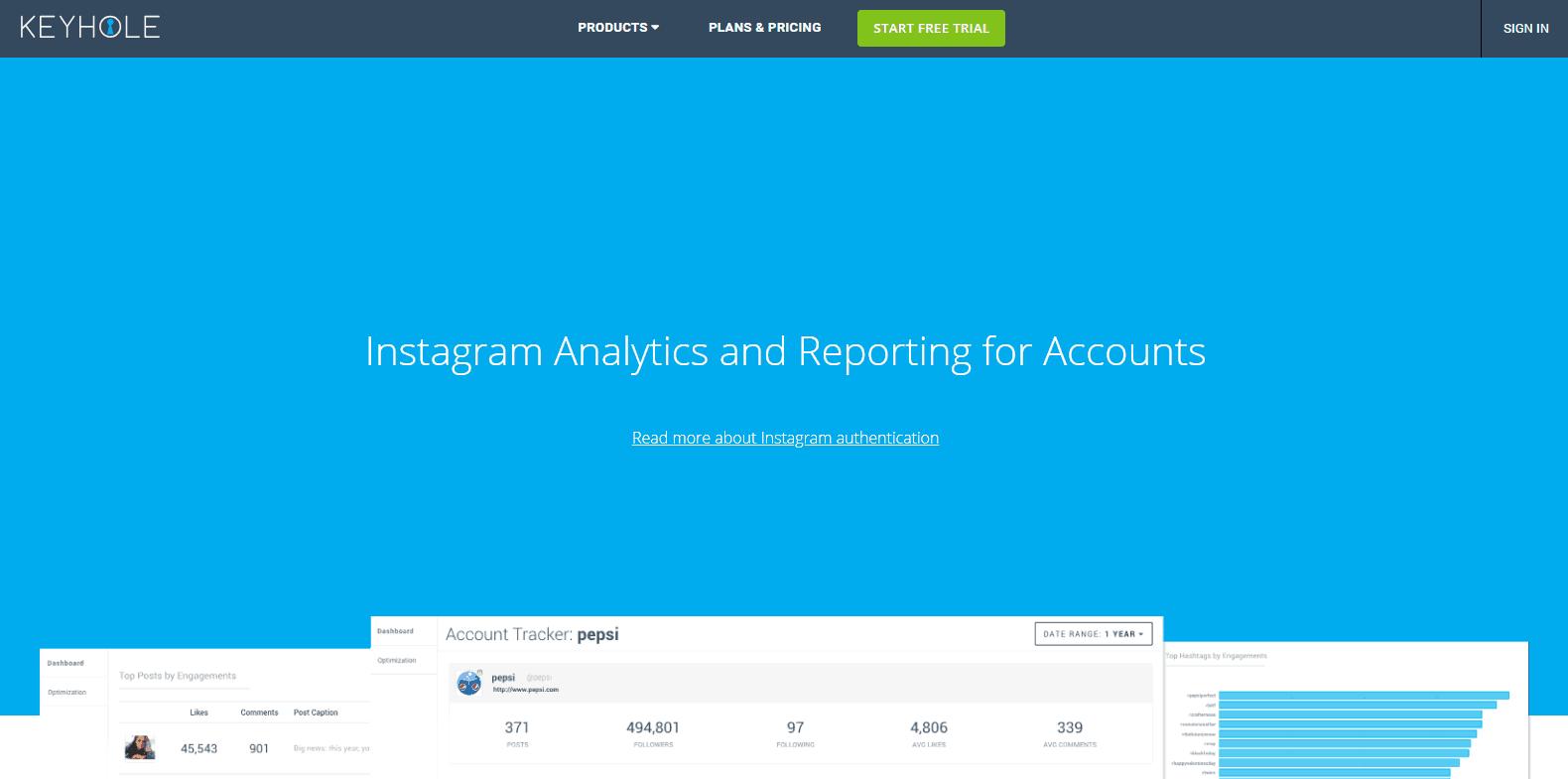 Keyhole Instagram Analytics Tools