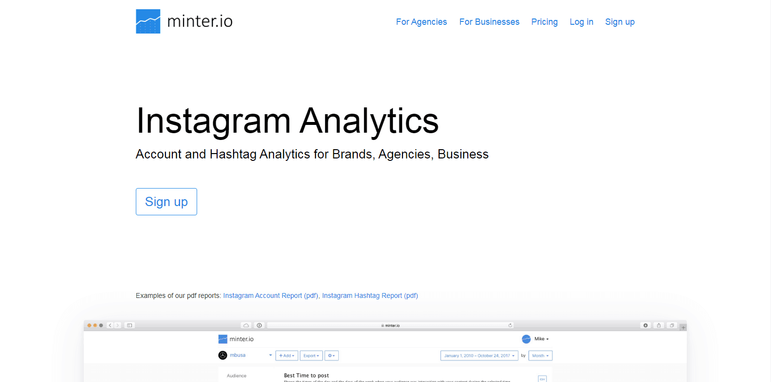 Minter.io Instagram Analytics Tools