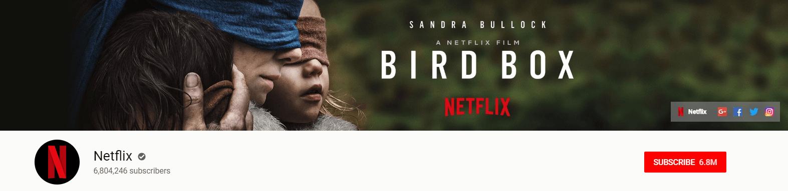 Netflix YouTube subscribers