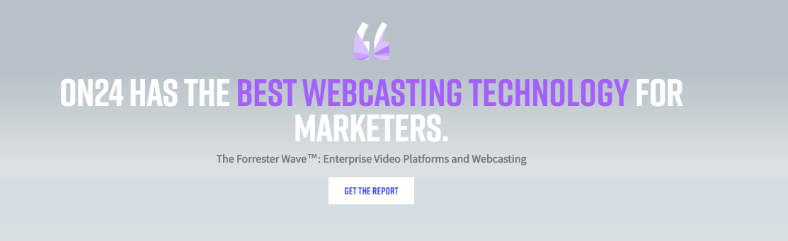 ON24 Webinar Hosting Website