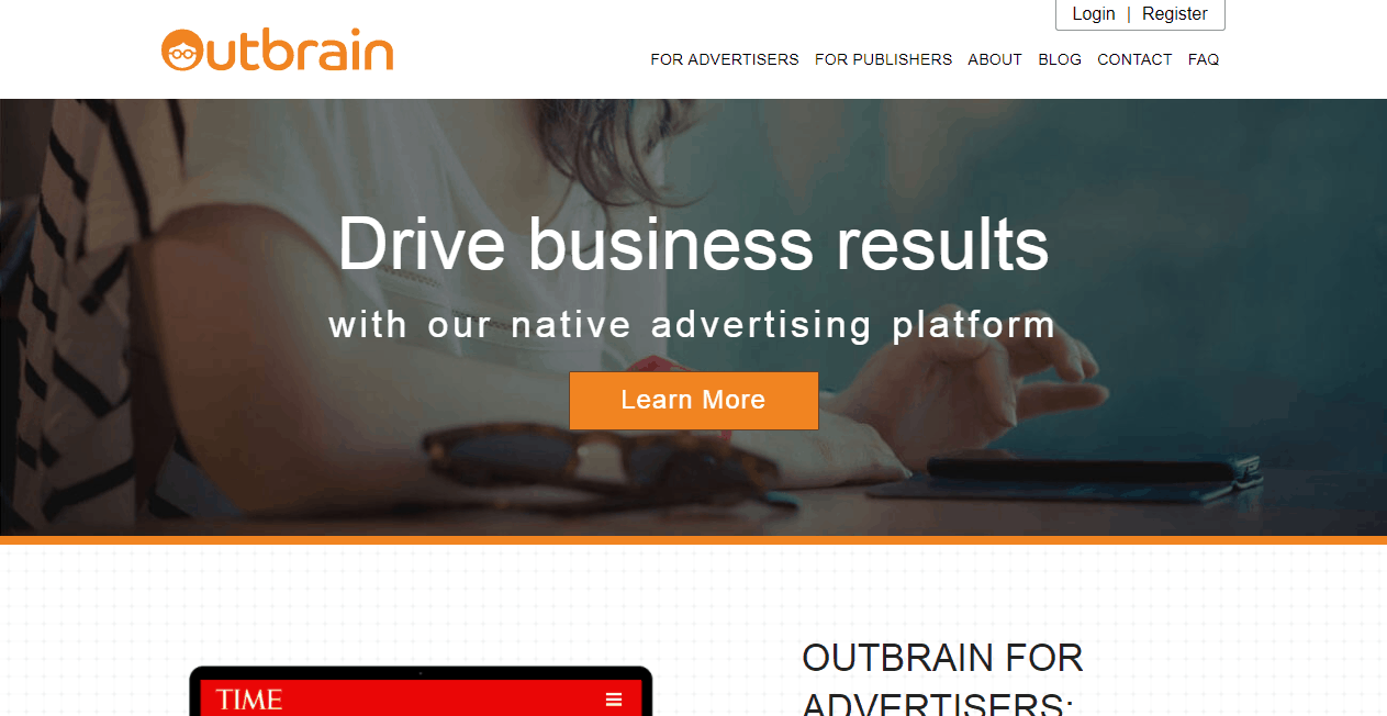 Outbrain Content Marketing Platform