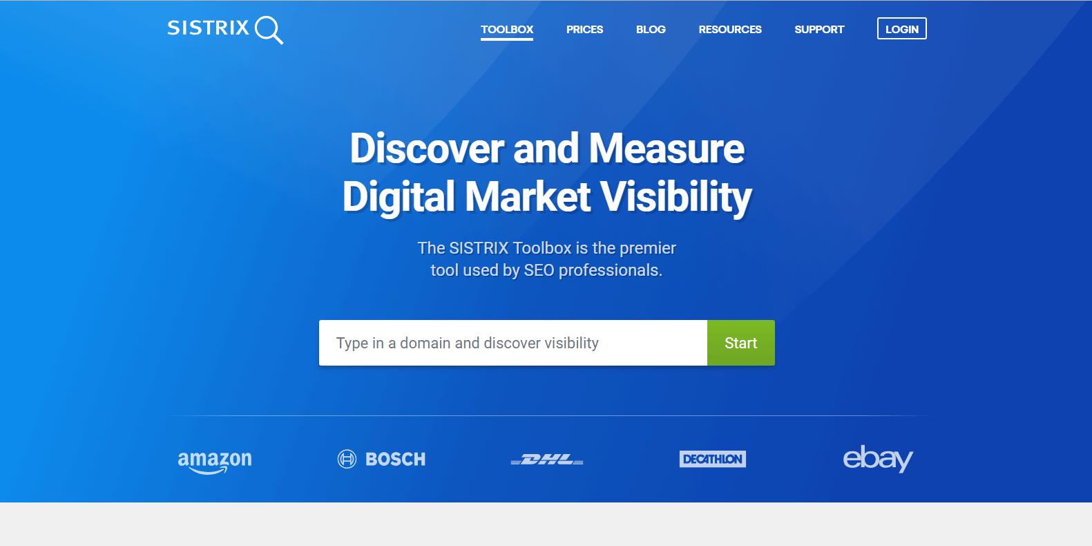 SISTRIX Competitor Analysis Tools