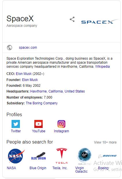 SpaceX Knowledge Graph