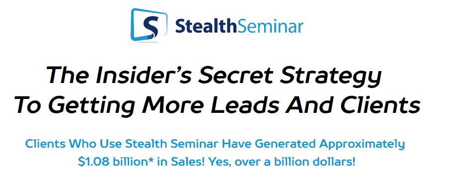 Stealth Seminar Webinar Hosting Website