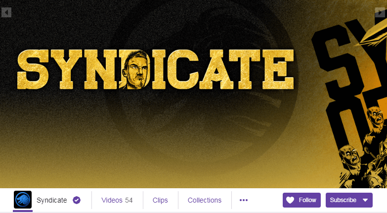 Syndicate Twitch Streamers