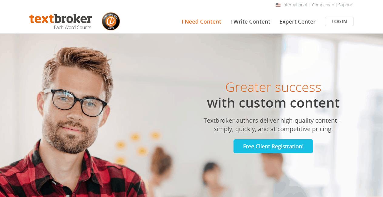 Textbroker Content Marketing Platform