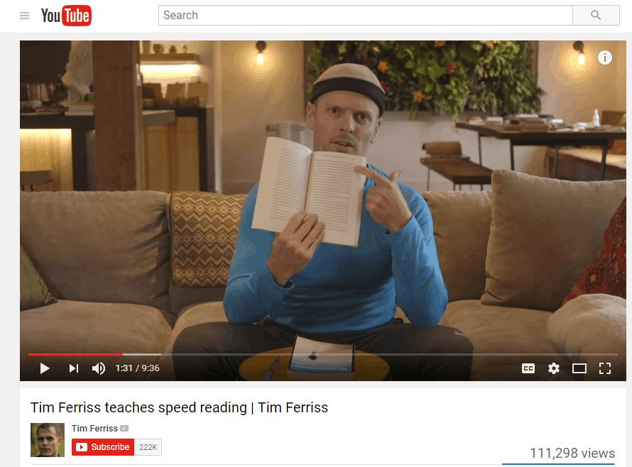 Tim Ferris video B2B Content Marketing