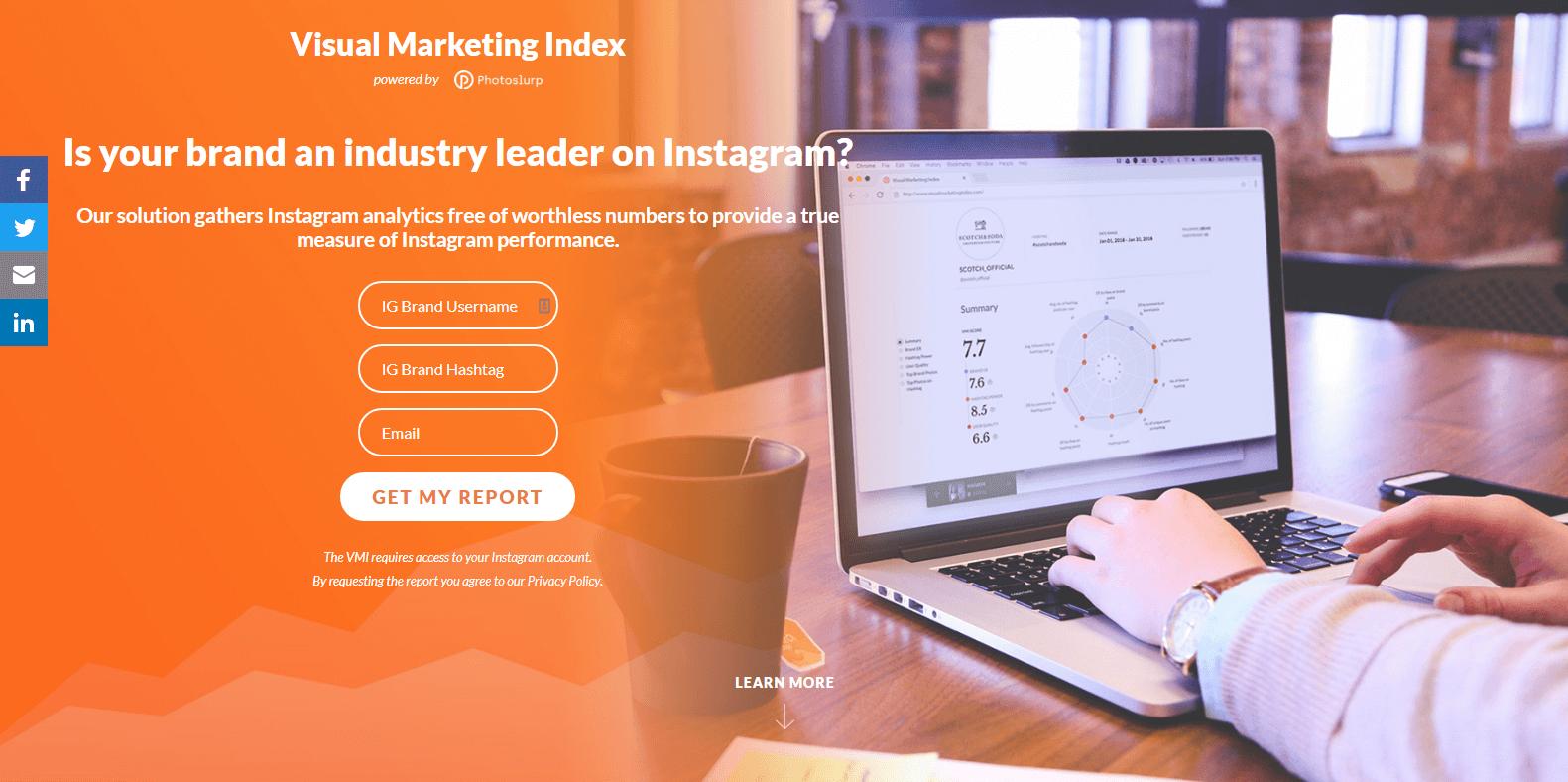 Visual Marketing Index Instagram Analytics Tools
