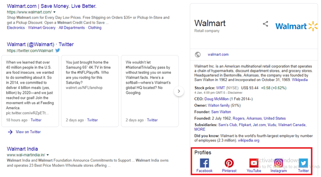 Walmart Knowledge Graph