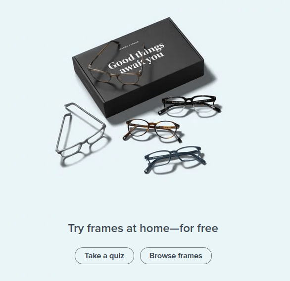 Warby Parker Call to Action