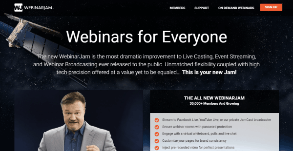 WebinarJam Webinar Hosting Website