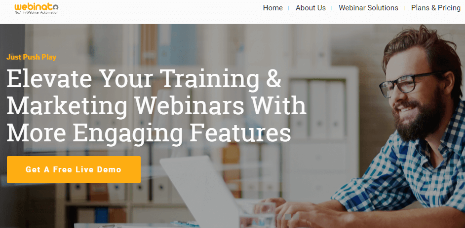 Webinato Webinar Hosting Website