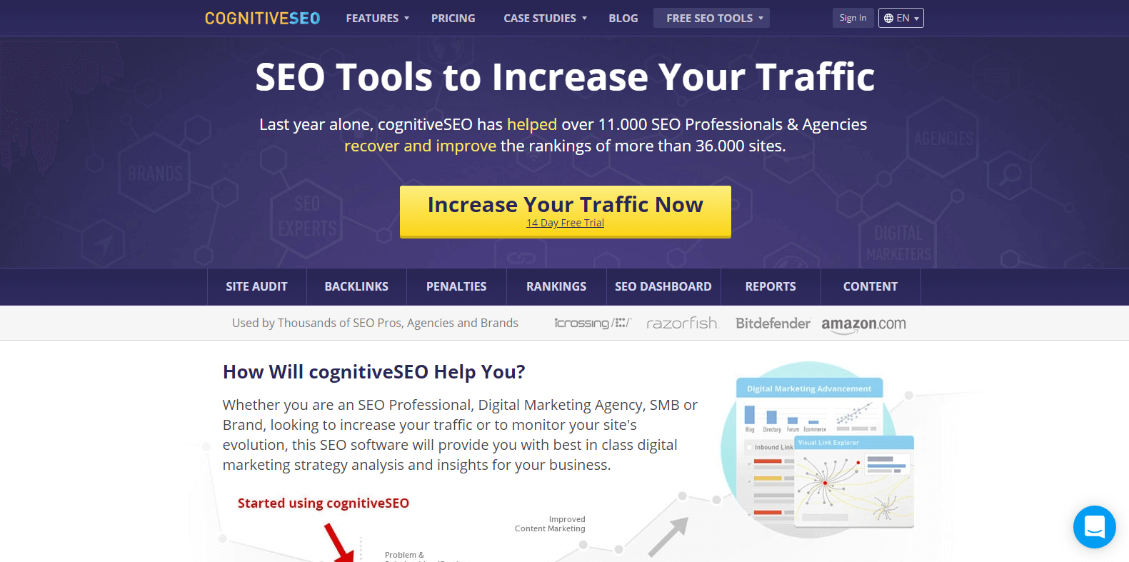 cognitiveSEO Competitor Analysis Tools