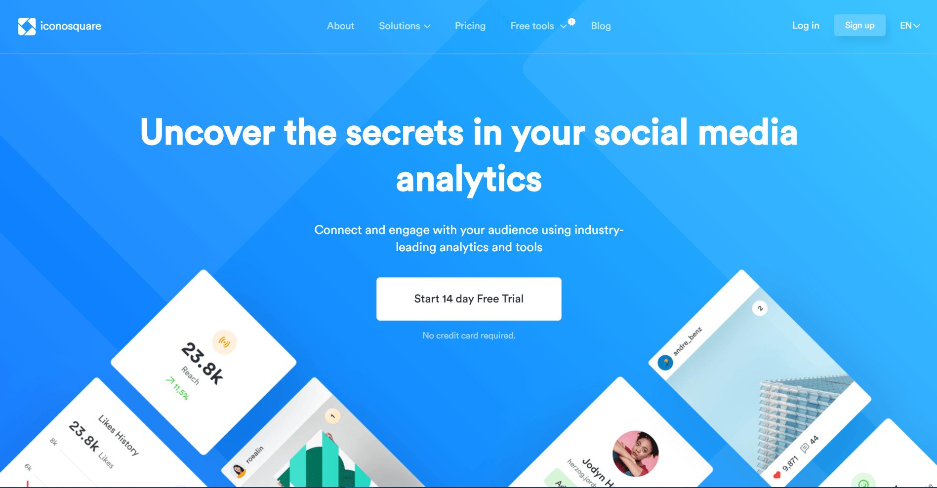 iconosquare Instagram Analytics Tools