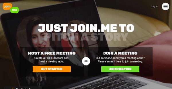 join.me Webinar Hosting Website