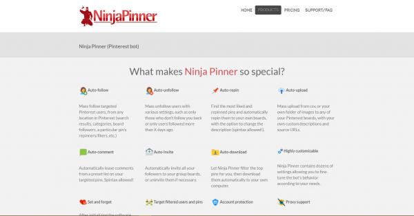 ninjapinner pinterest tools
