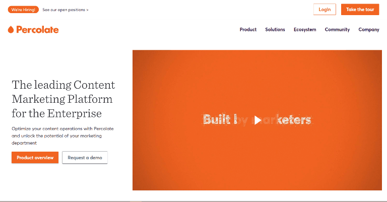 percolate Content Marketing Platforms