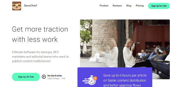 StoryChief Content Marketing Platforms