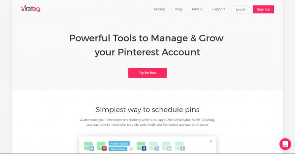 viraltag pinterest tools